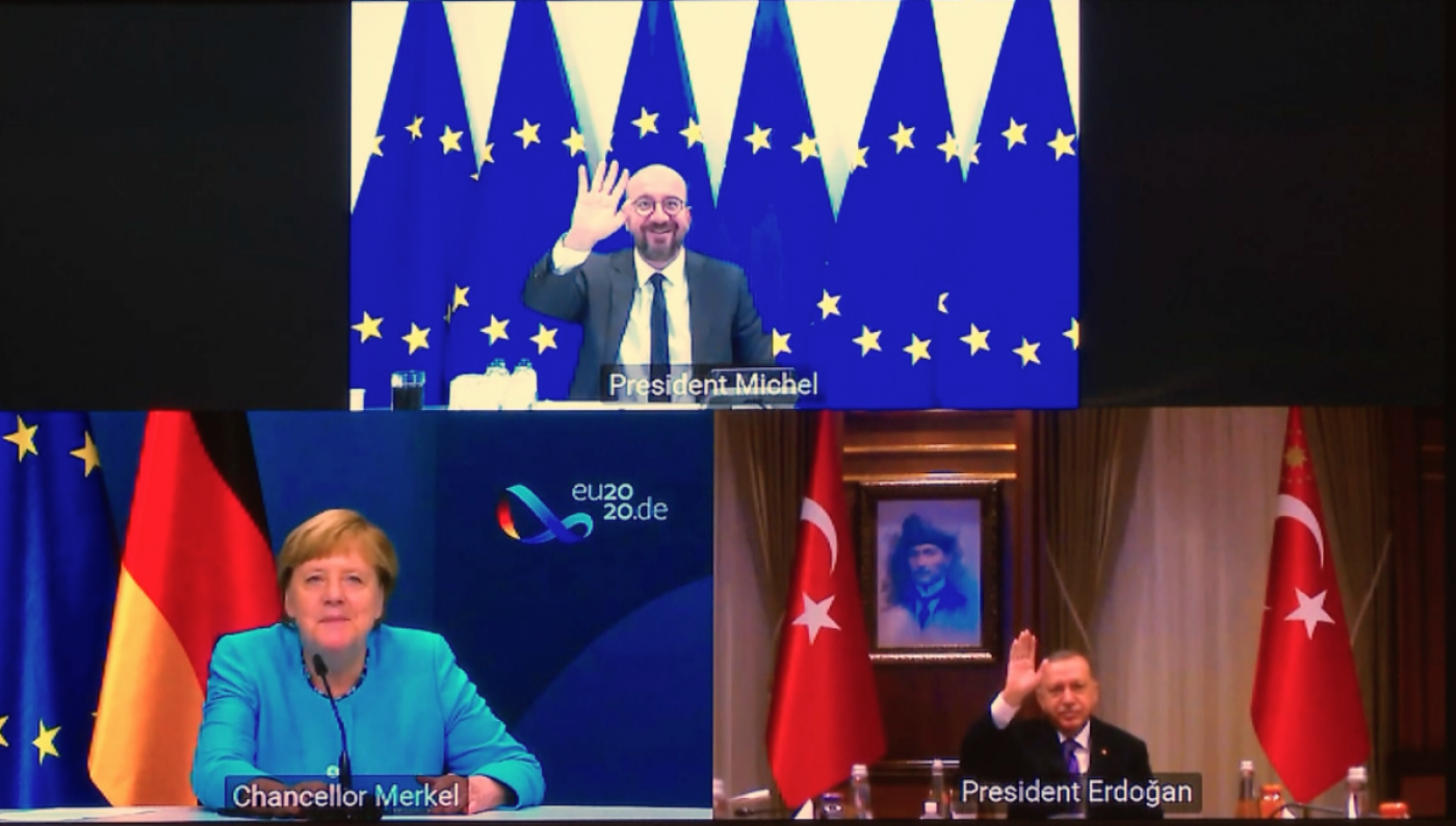 Video conference Turkey-EU-Germany