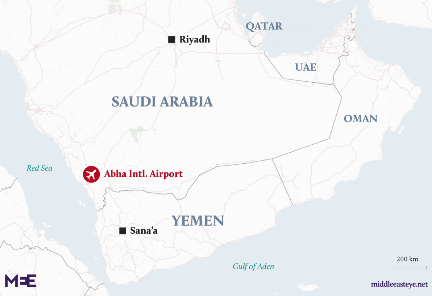 26 hurt in Houthi attack on Abha airport: Coalition