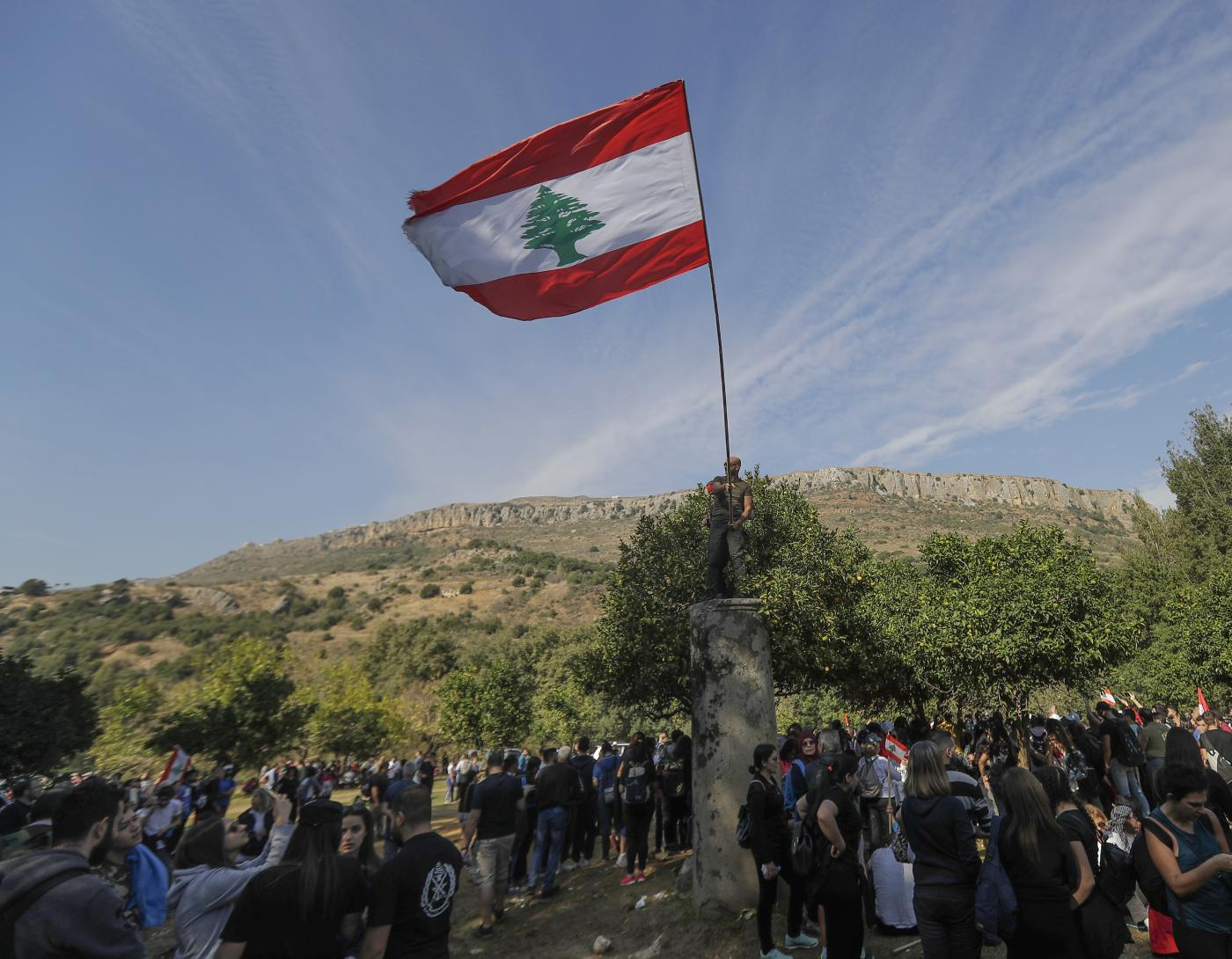 Lebanon Bisri Valley protest AFP