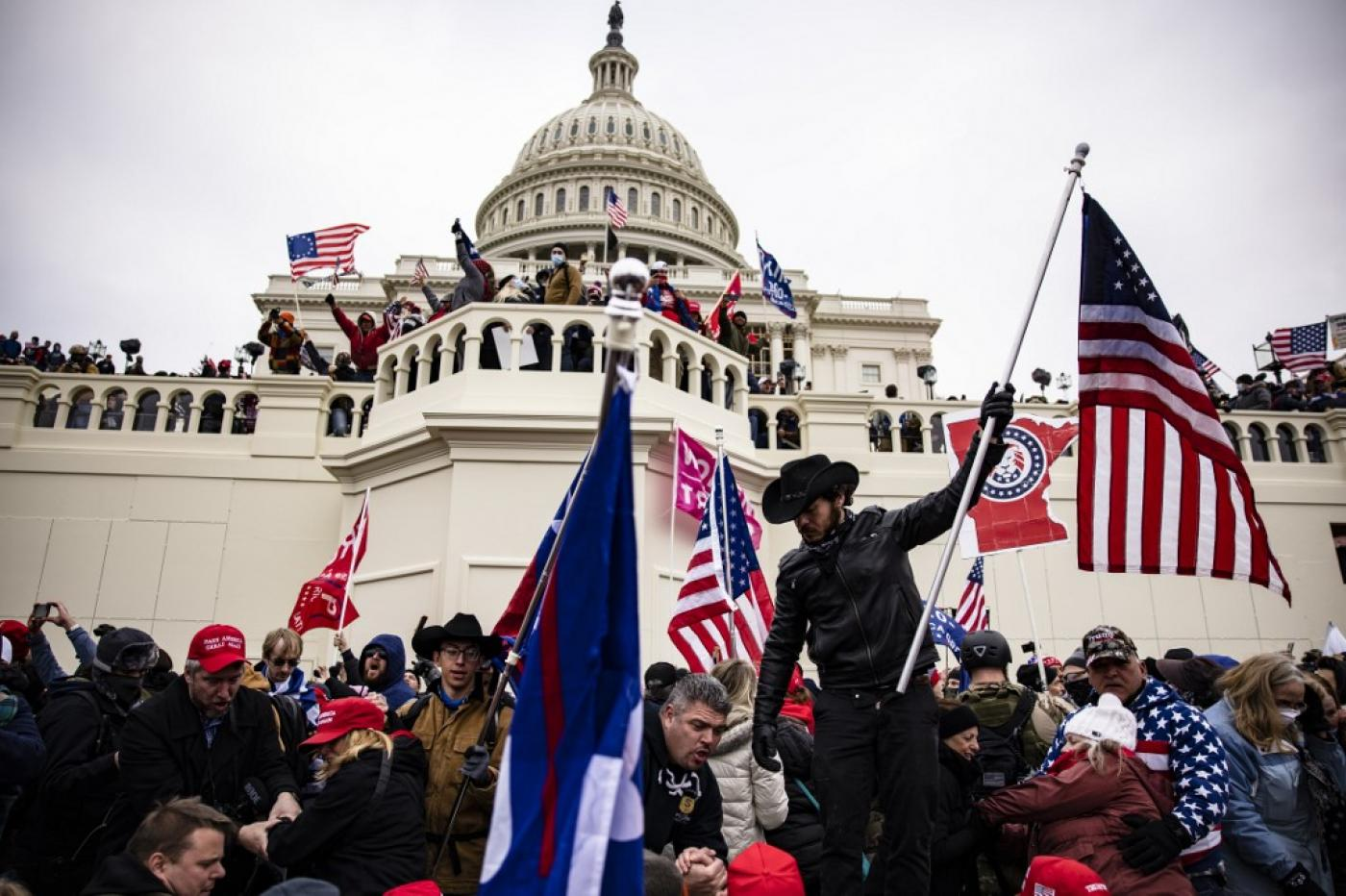 Hundreds of Trump supporters stormed the US Capitol building last week.