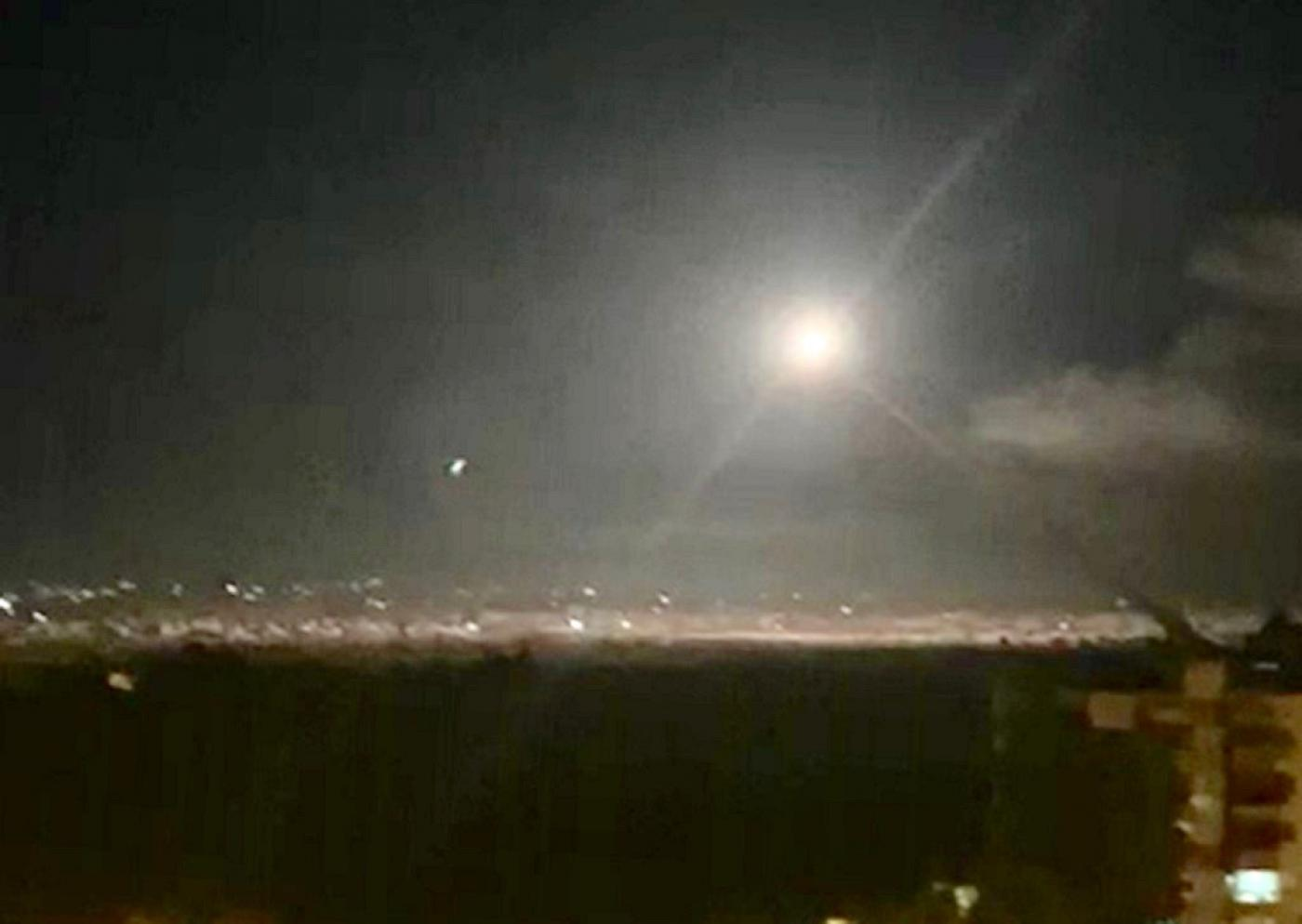 Syrian air defenses intercept Israeli missiles, state media reports