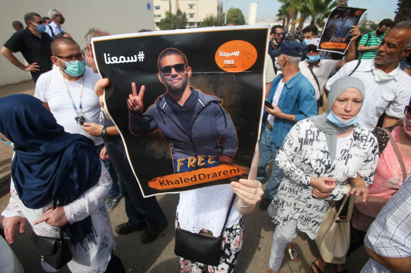 Journalists rally in Algiers in support of Khaled Drareni
