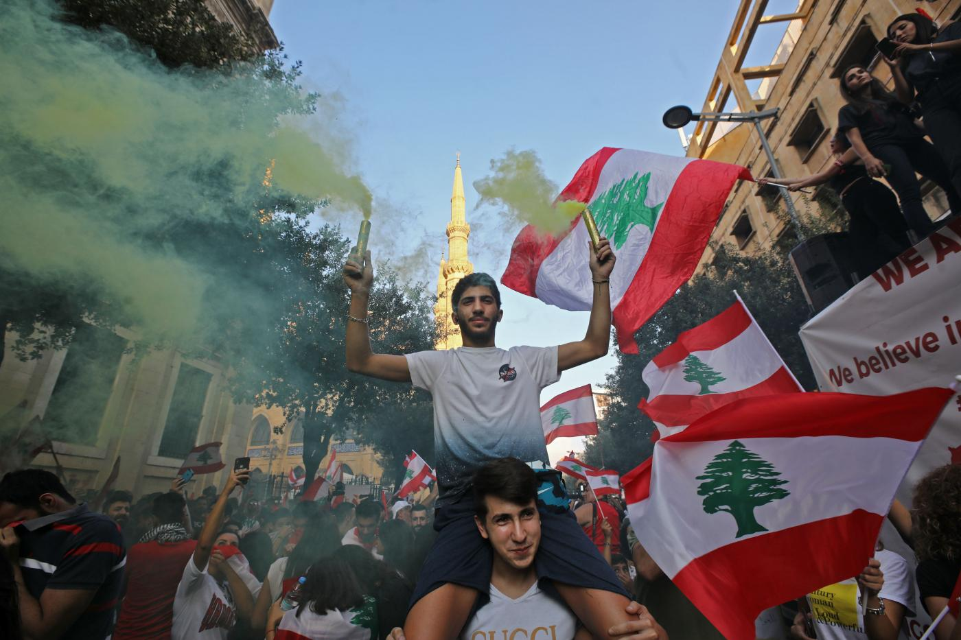 Image result for Lebanon protesters reject government reform promises