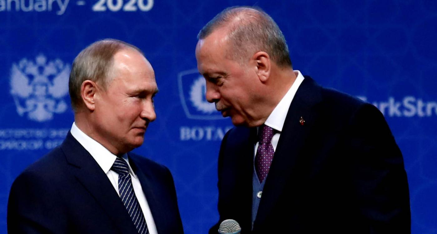 Turkish President Recep Tayyip Erdogan and his Russian counterpart Vladimir Putin meet in Istanbul in January