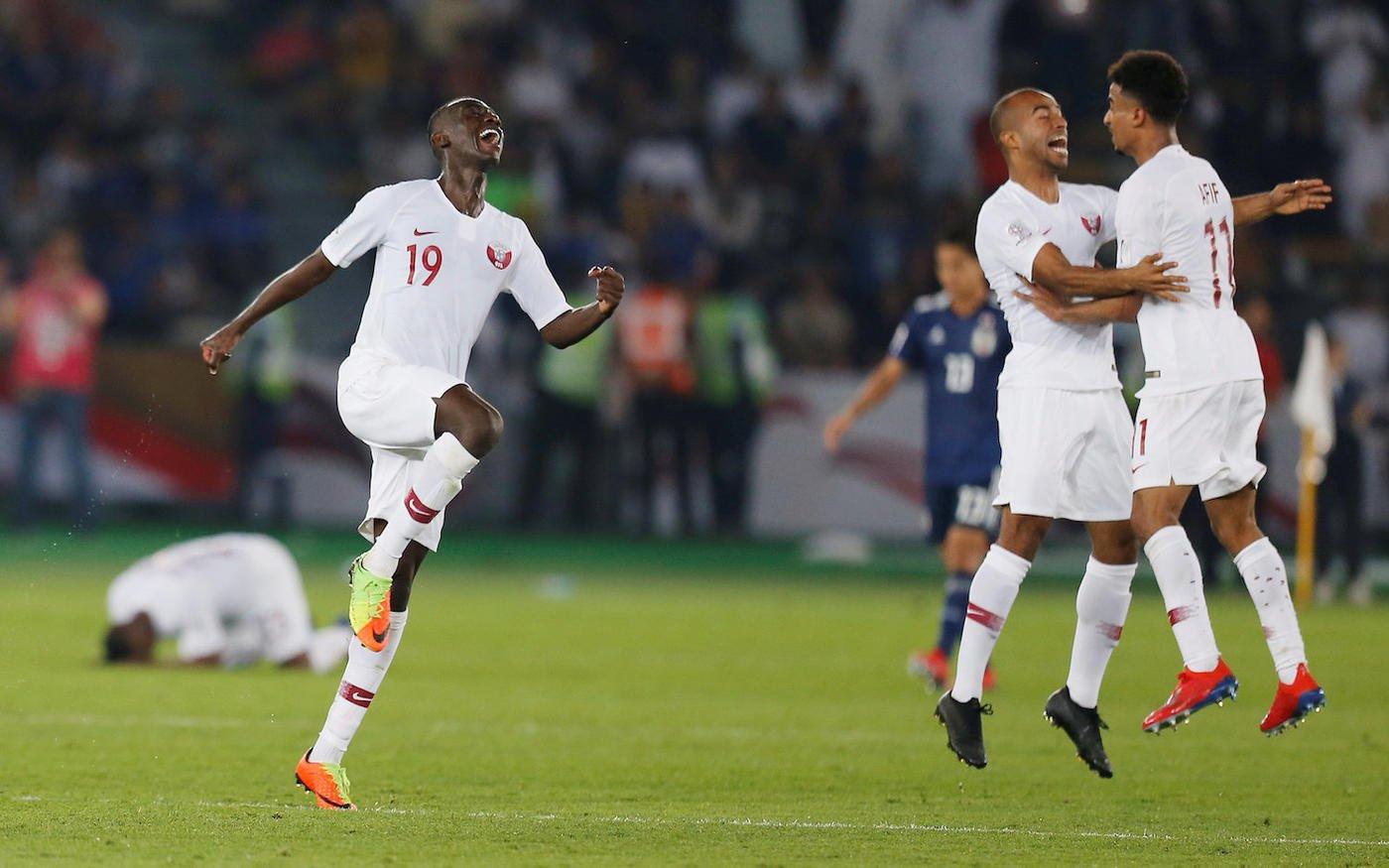 Qatar football team beat Japan to win their first ever Asian