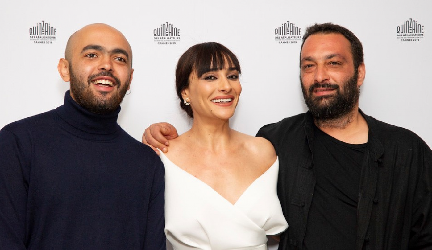 Tlamess at Cannes: From left, actors Abdullah Miniawy and Souhir Ben Amara and director Ala Eddine Slim (La Quinzaine des Realisateurs)