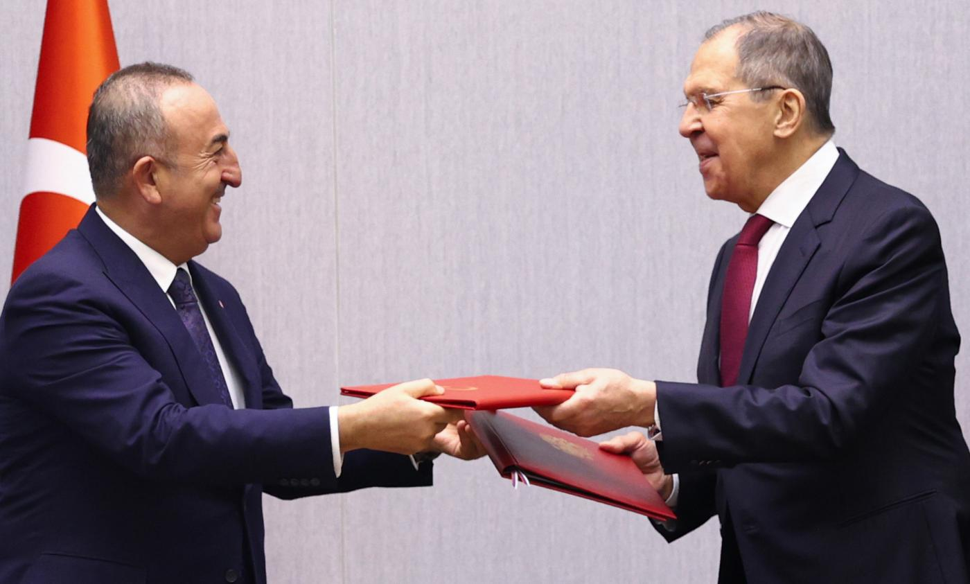 Turkish Foreign Minister Mevlut Cavusoglu visited Moscow for talks with his Russian counterpart Sergei Lavrov on Tuesday.