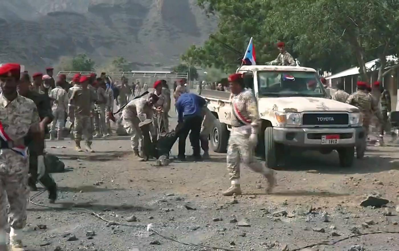 Houthis target military parade, kill 25 in Aden, Yemen