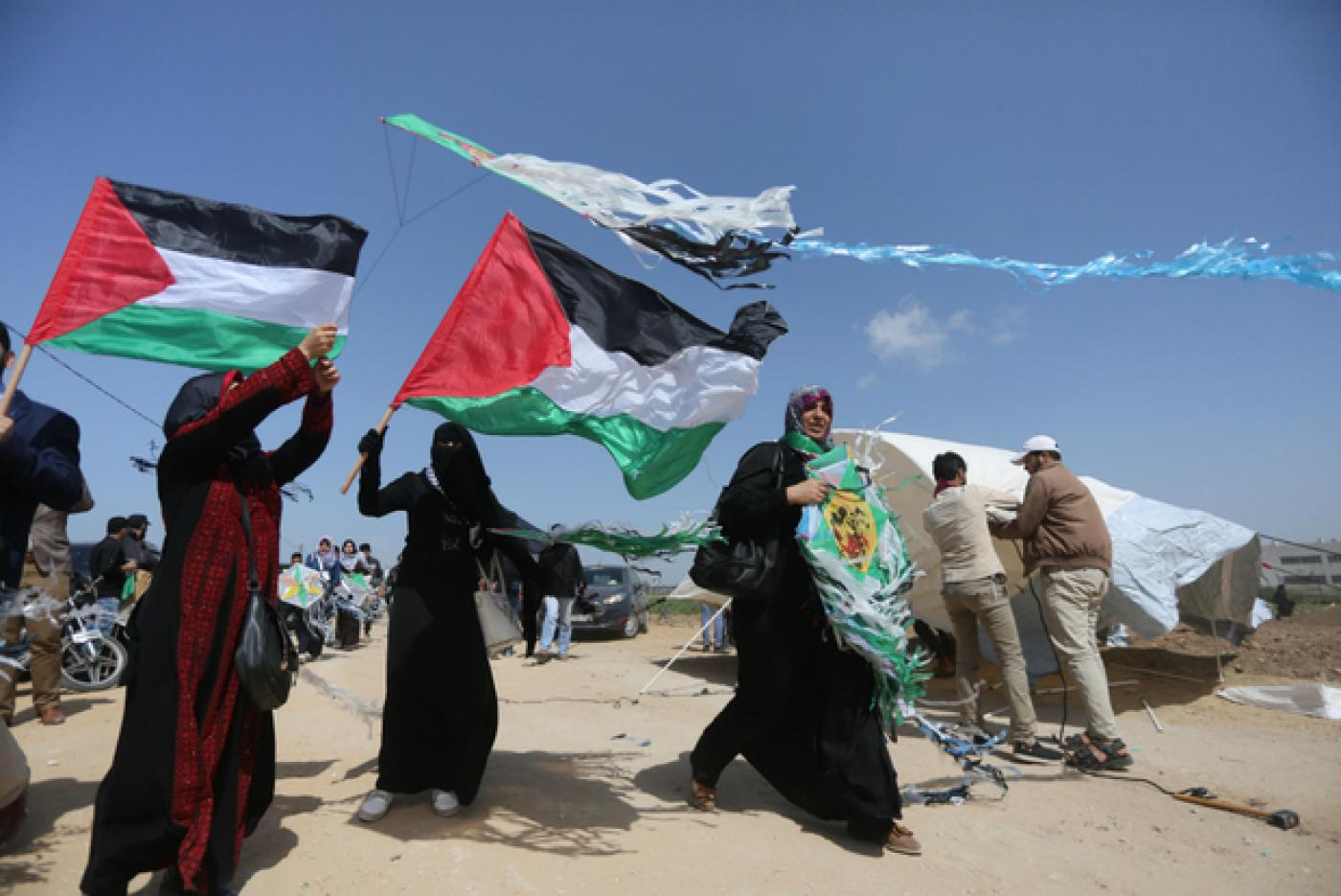 A ceasefire called on Saturday by Hamas, which governs Gaza, continues to  be met (MEE/Mohammed Asad)