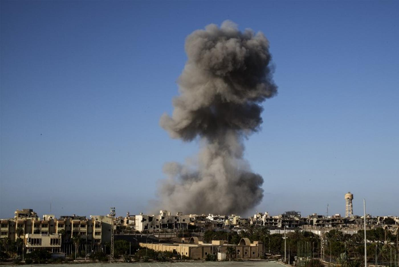 US strikes Islamic State group camp in Libya, killing 17