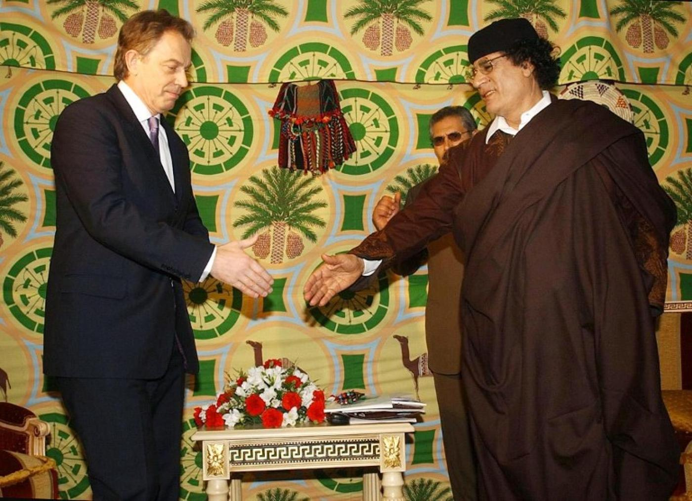 Blair and Gaddafi