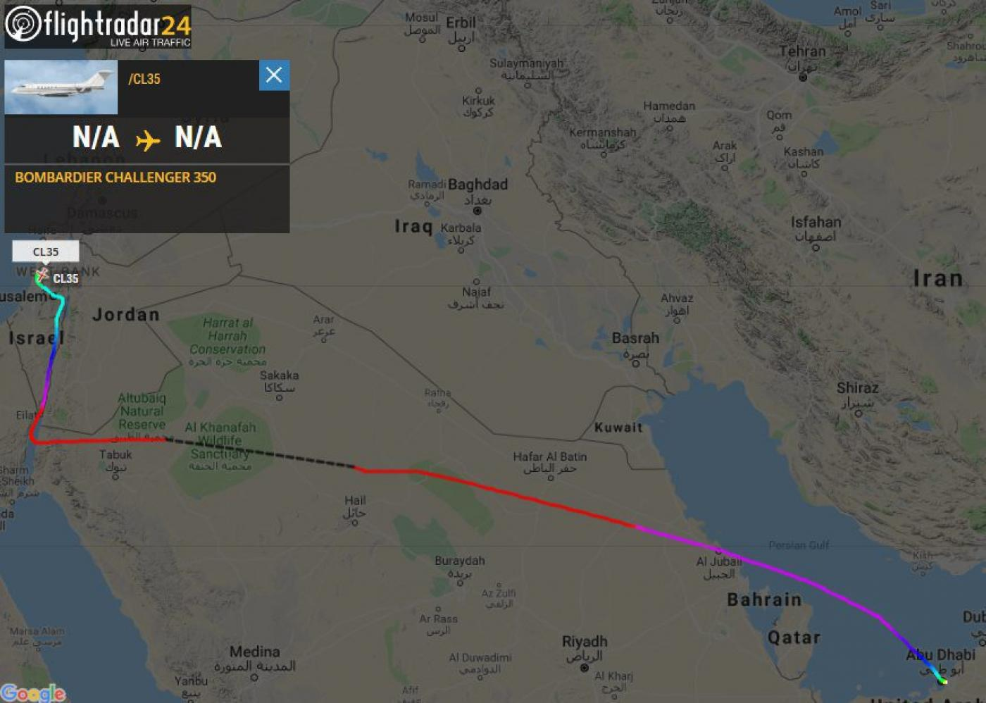 Tel Aviv Middle East Map.Private Jet Reportedly Takes Uae And Israel Officials From Abu Dhabi
