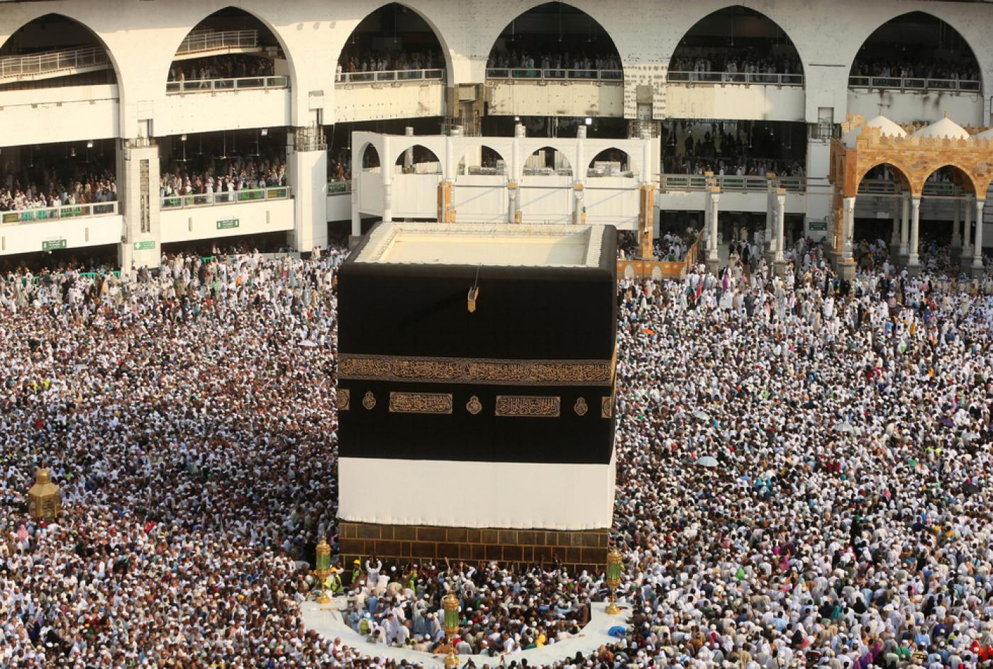 Pilgrims gather for the Hajj at Mecca in 2016 (Reuters)