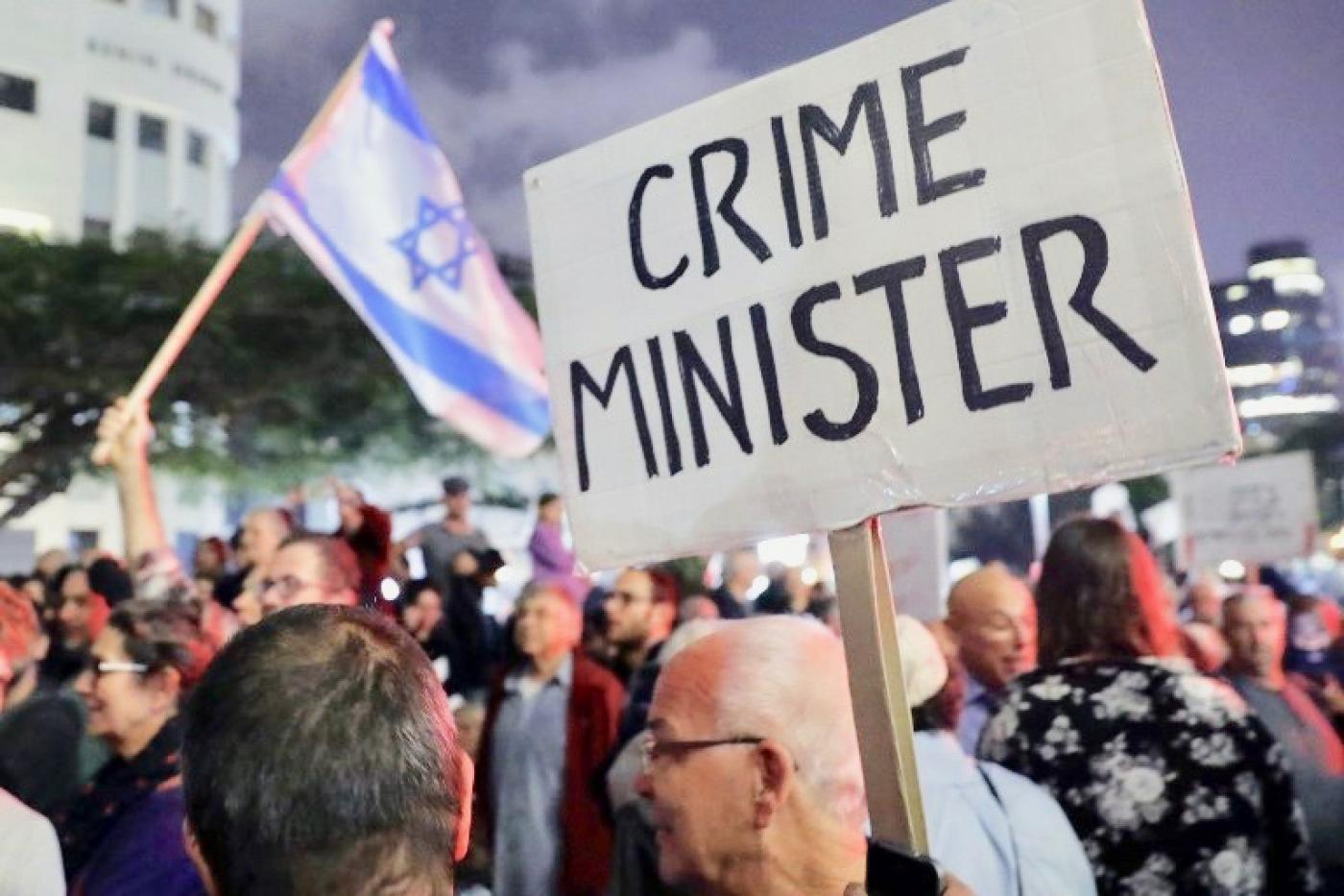 Israelis hold fourth weekly anti-corruption demonstration | Middle ...