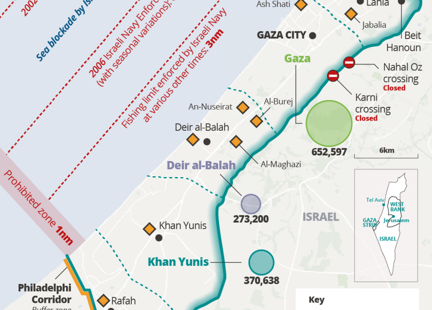 The Gaza crisis, explained in eight graphics | Middle East Eye Map Israel Gaza on jerusalem to gaza map, israel west bank map, west bank and gaza map, 2014 israel map, gaza strip map, israel gaza strip,
