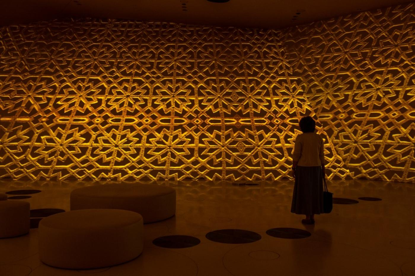 A visitor tours an exhibit at the Qatar National Museum. Qatar is among Gulf states drawing on British expertise (AFP)
