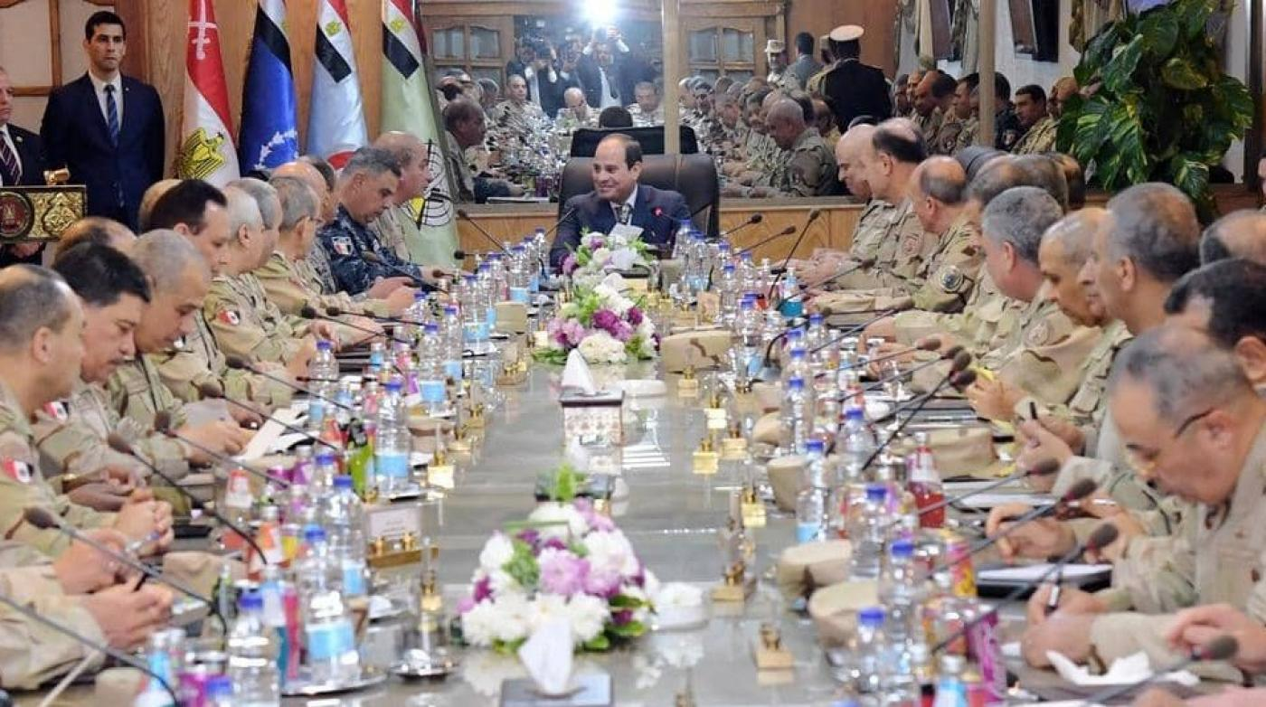Sisi with generals