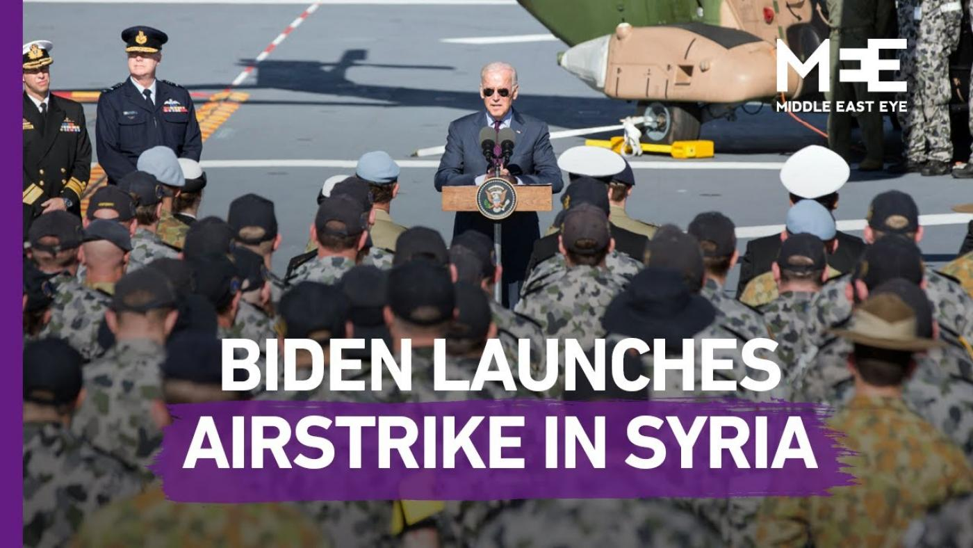 USA  lawmakers question legality of Biden's air strikes in Syria