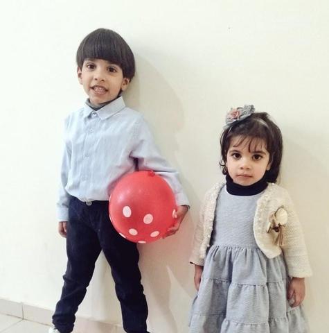 Zaid, 4, and Mariam Saad, 2 (Handout)