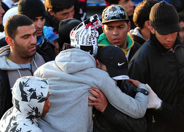 Tunisian migrants arrive in Italy (AFP)
