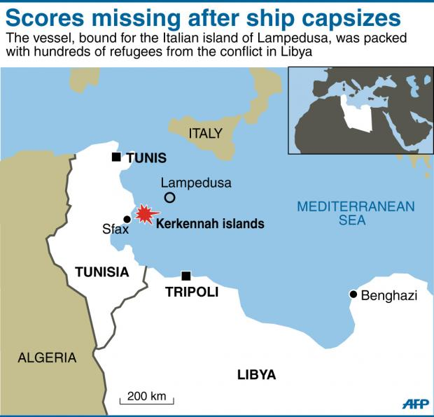 The Italian island of Lampedusa is a prime spot for migrants (AFP)