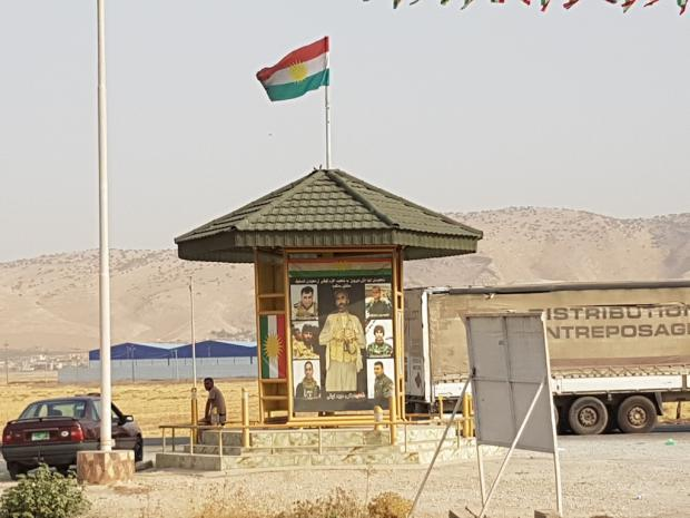 A memorial to killed Peshmerga in Nineveh province