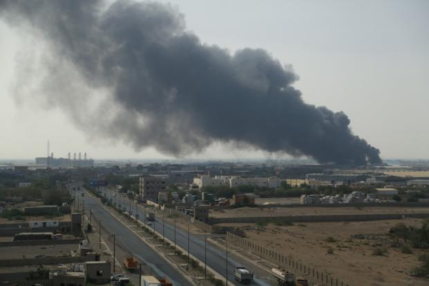 Fire at Yemeni port destroys 'huge amount' of humanitarian aid and food