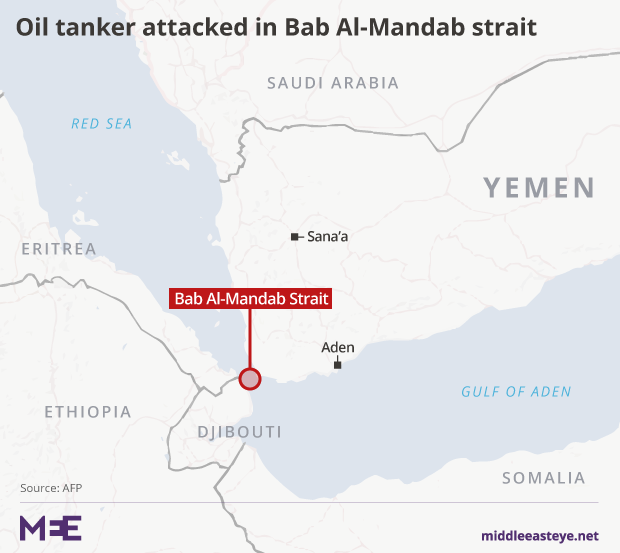 Oil tanker attacked in key shipping lane off Yemen