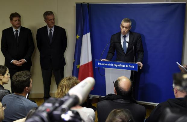 French Public Prosecutor Francois Molins speaking to the press in Paris