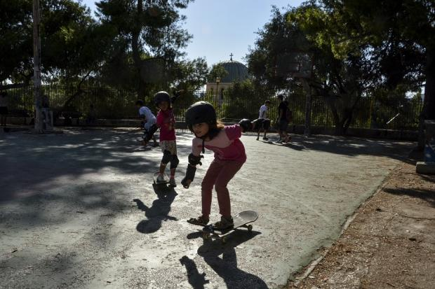 Skate expectations: How Athens' child refugees find freedom