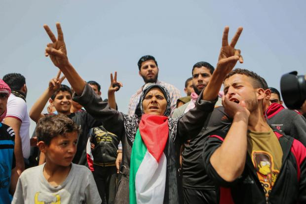 PHOTOS: Why are Palestinians burning Israeli flags in Gaza?