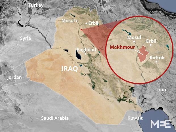 Makhmour is a Kurdish majority town just outside antonymous Iraqi Kurdistan (MEE)