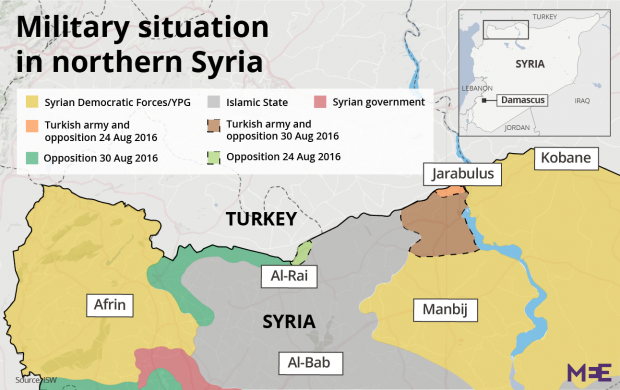 Turkey Rejects US Claims Of Ceasefire With Syrian Kurds Middle - Where is syria and turkey