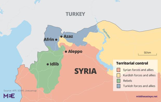 Syrian army sends reinforcements towards Kurdish-controlled Manbij