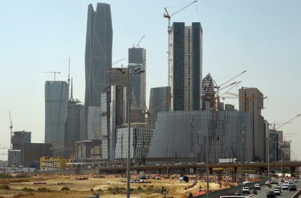 Towers being built by Saudi Oger and other construction companies in the King Abdullah Financial District in March 2016 (AFP)