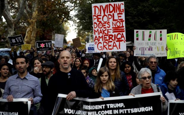 Sharp rise in hate crimes during Trump's first year: FBI