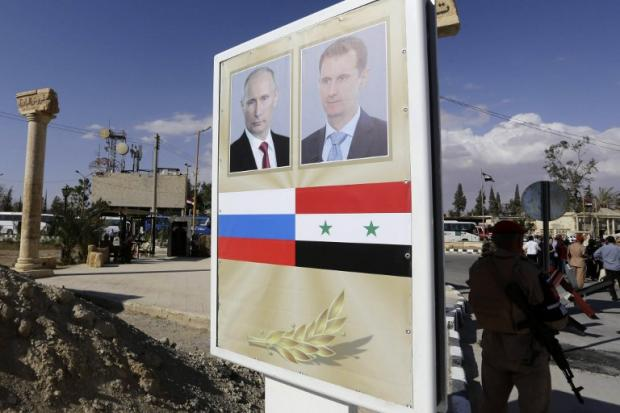 Moscow vows to press Syria offensive; U.S. weighs tough response
