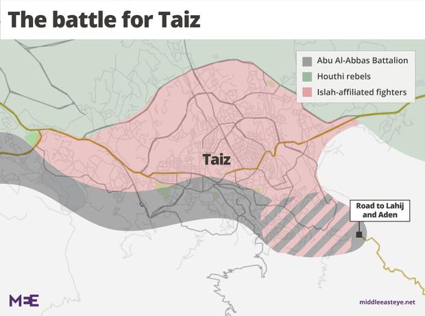 Tensions heighten between pro-Hadi groups in Yemen's Taiz