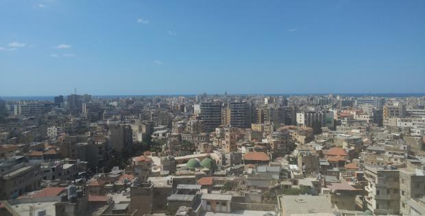 A view of Tripoli's Skyline from the Crusaders' Castle (MEE/Ali Harb)