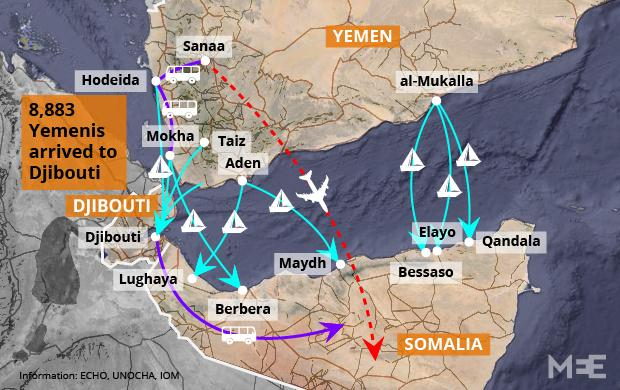 Out Of Aden Yemeni Refugees In Djibouti Recall Horrors Of War - Us embassy in yemen map