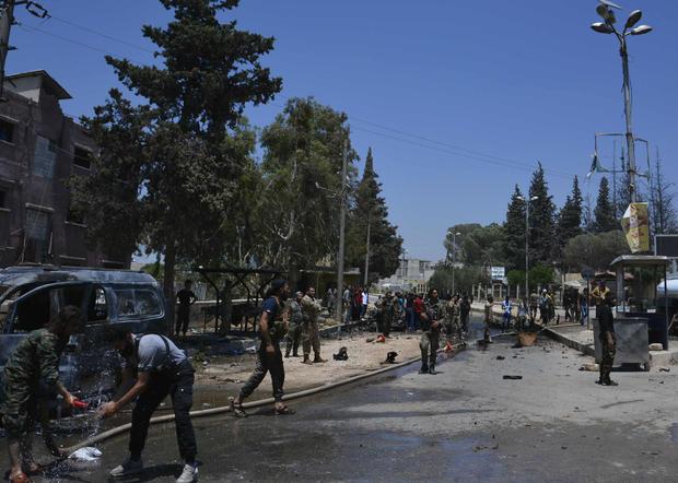 Twin blasts tear through Syria's Afrin, killing at least nine