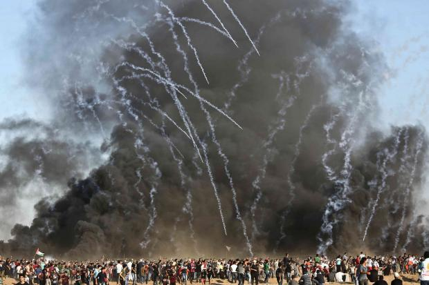 Two killed as Palestinians protest in Gaza, amid ongoing Hamas-Israel talks