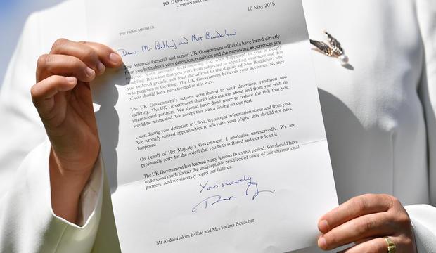 British government apologises to Libyan dissident Belhaj