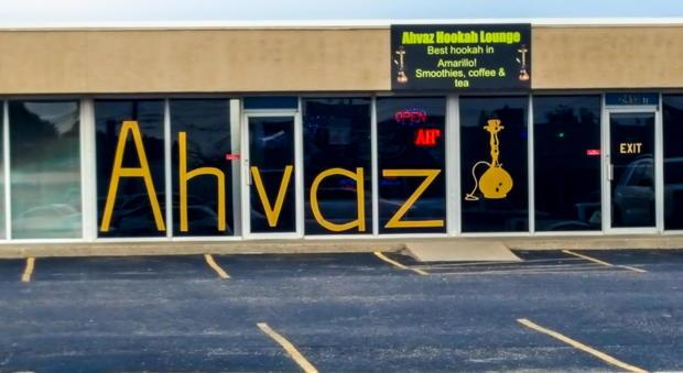 The Ahvaz hookah lounge in Amarillo, Texas (MEE/Creede Newton)