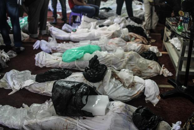 Bodies of dead protesters in El-Eman mosque