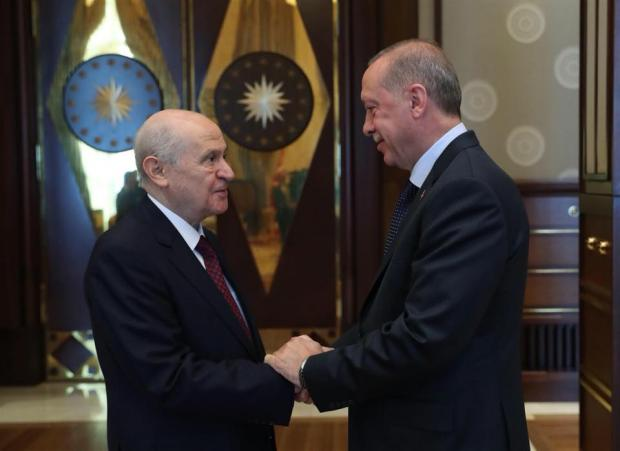 Erdogan and Bahceli met in Ankara on July 31.