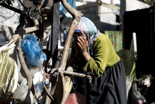 Even before the current crisis, water was a rare commodity in Gaza (AFP)