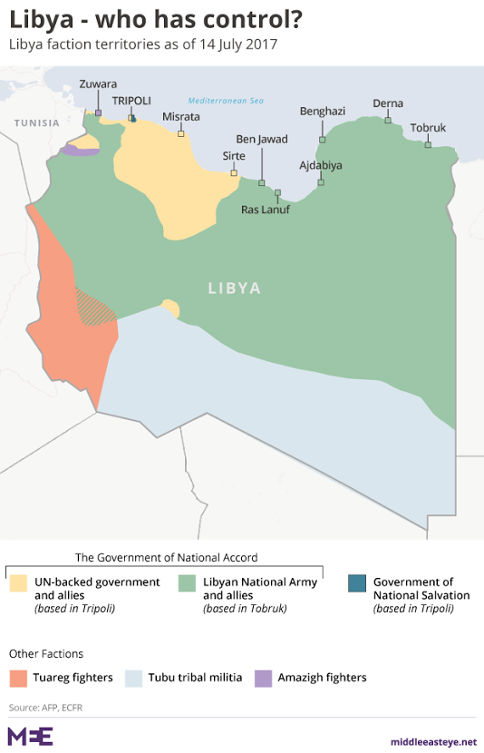 Libyas Threeway War Converges On Battle For Tripoli Middle - Where is tripoli