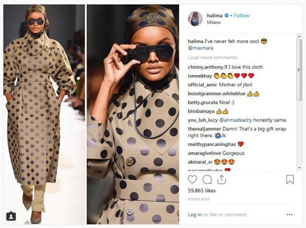 """929aee3d6961 Speaking to Vogue Arabia, she said that modest fashion is not just a  passing trend. """"It's not just a way of dress, it's a way of life… as the  origins are ..."""