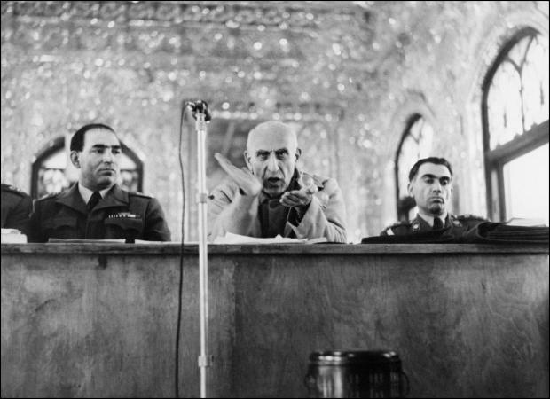 Mohammed Mossadegh speaks during his military tribunal trial in Iran in November 1953 following his overthrow in a CIA-backed coup